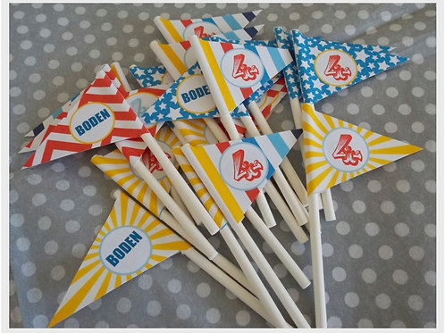 Carnival Party Mini Flags
