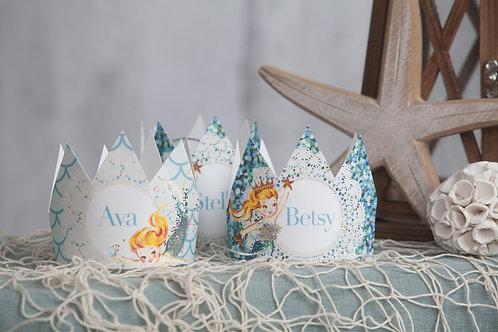 Mermaid Party Crowns