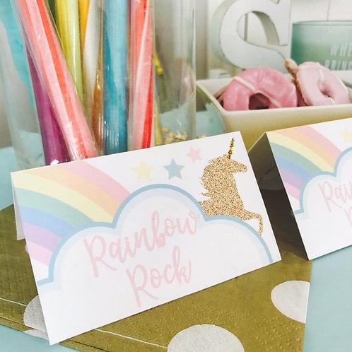Unicorn Food Tent Cards
