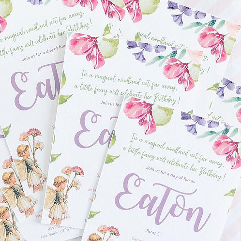 Flower Fairy Invitations
