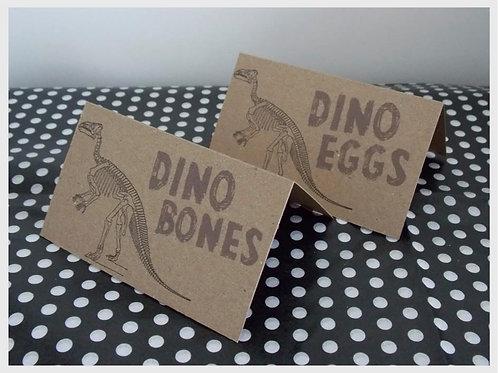Dinosaur Food Tent Cards