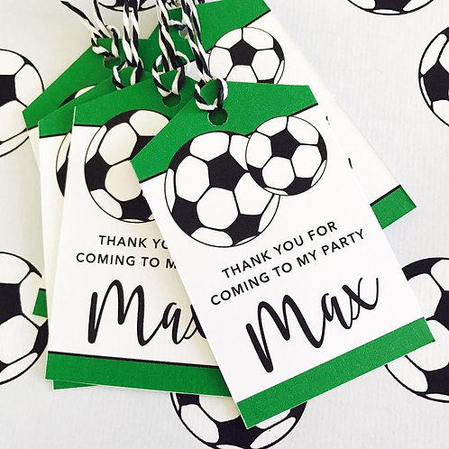Football Party Tags