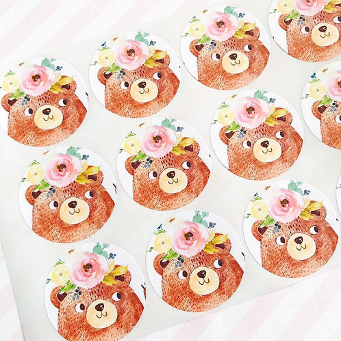 Teddy Bears Picnic Envelope Seals (girl)