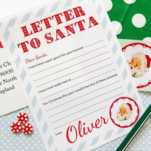 'Letter to Santa' Set