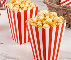 Boxes of popcorn