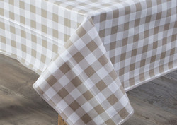 Gingham table cover
