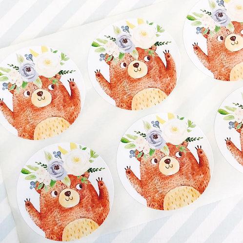 Teddy Bears Picnic Stickers (boy)