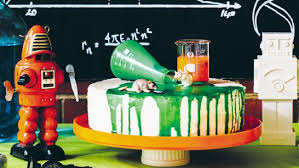 Science party cake