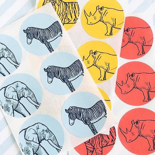 Party Animal Envelope Seals