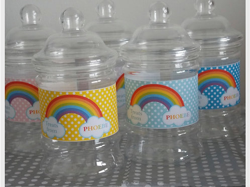 Rainbow Party Sweet Jars
