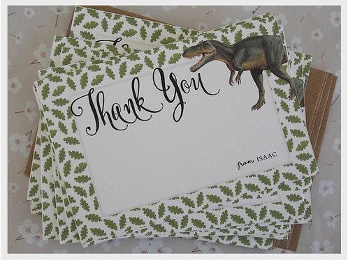 Dinosaur Roar Thank You Cards- blank