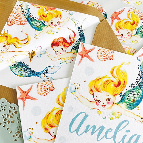 Mermaid Envelope Liners