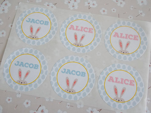 Easter Name Stickers