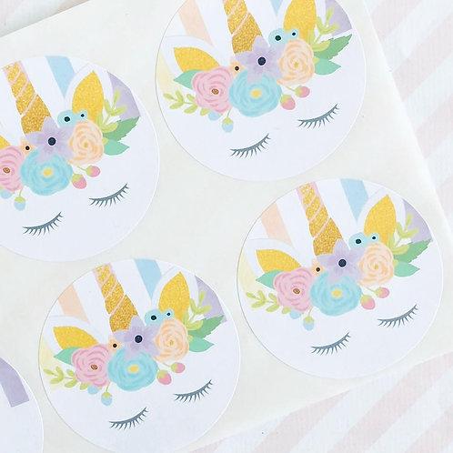 Floral Unicorn Stickers
