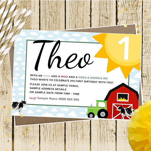 Barnyard Party Invitations