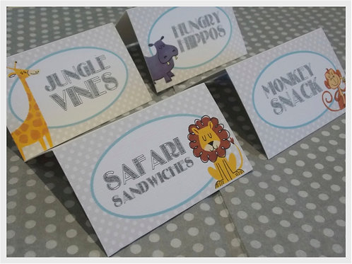 Little Zoo Food Tent Cards
