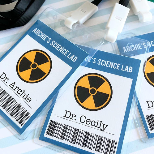 Science Party Lanyards