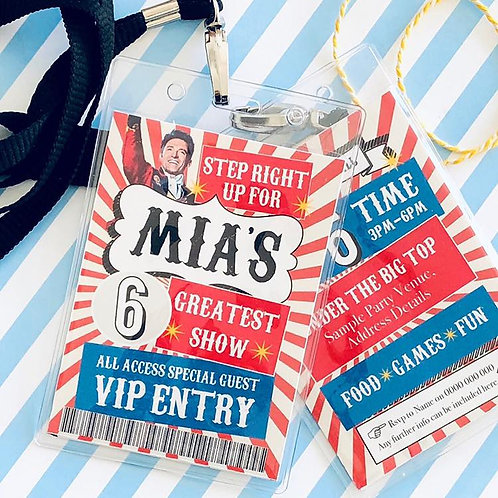 Greatest Showman Party Lanyards