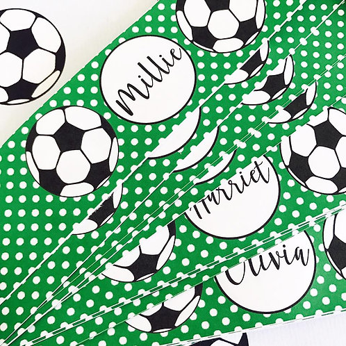 Football Party Bottle Labels