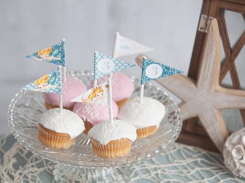 Mermaid Mini Flags