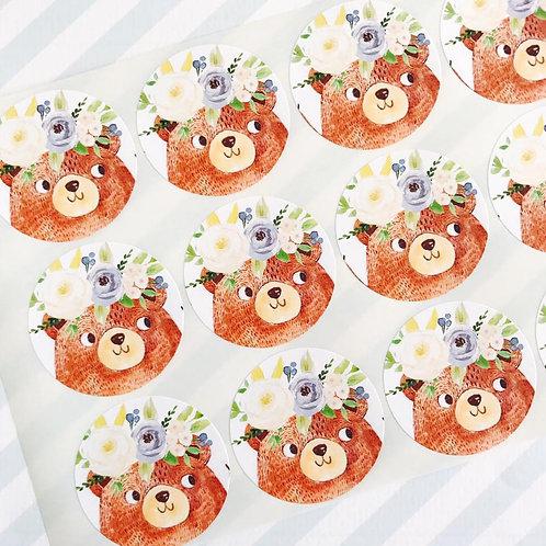 Teddy Bears Picnic Envelope Seals (boy)