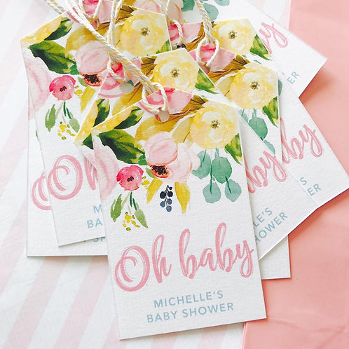 Floral Baby Shower Party Bags