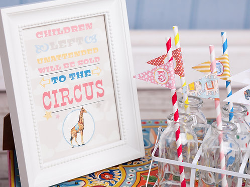 Vintage Circus Party Sign