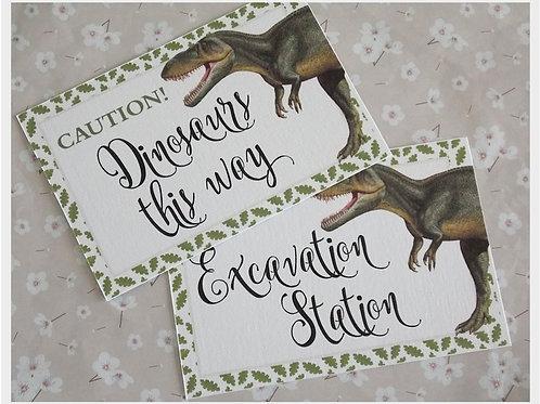 Dinosaur Roar Mini Prints
