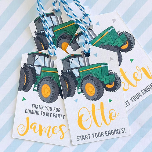 Tractor Party Tags