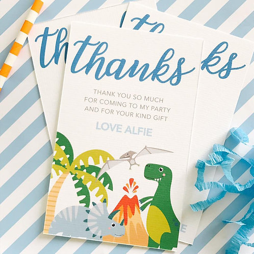 Diky Dino Thank You Cards