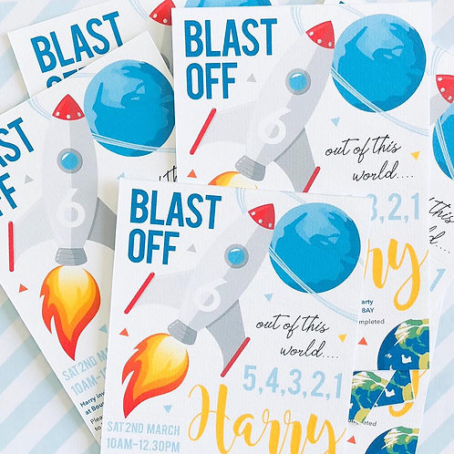 Space Party Invitations