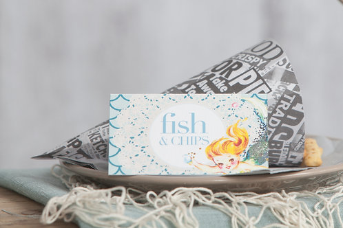Mermaid Food Tent Cards