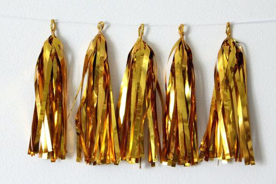 Gold tassel garlands