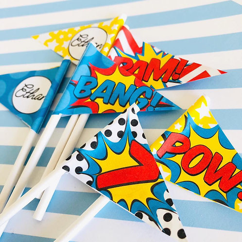 Superhero Mini Flags