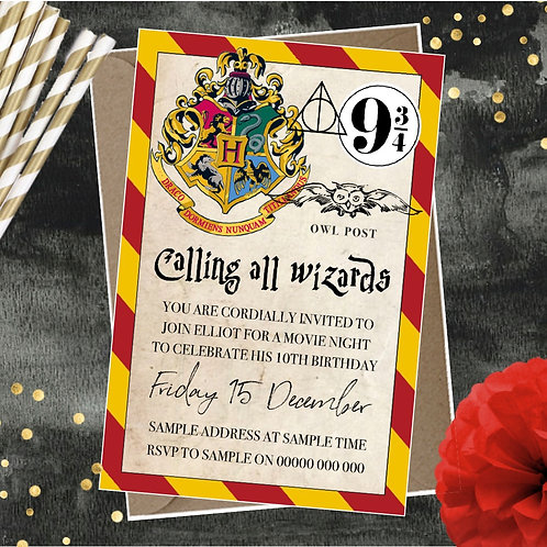 Wizarding Party Invitations
