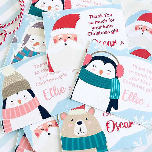 Festive Friends Christmas Thank You Card pack