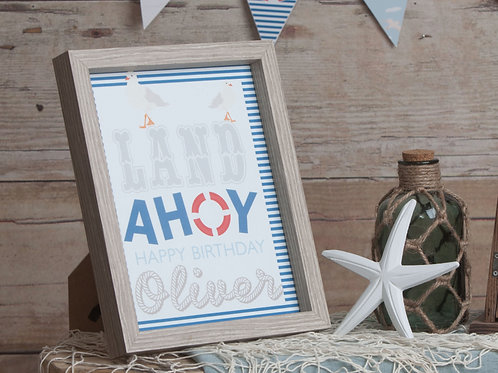 Nautical Party Sign