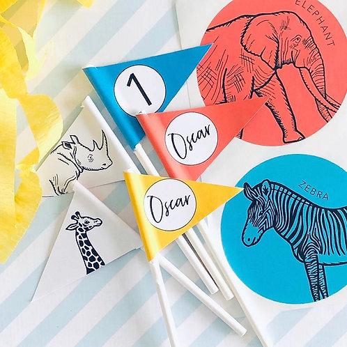 Party Animal Mini Flags