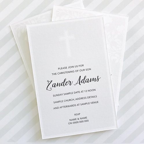 Cross Christening Invitation (Neutral)