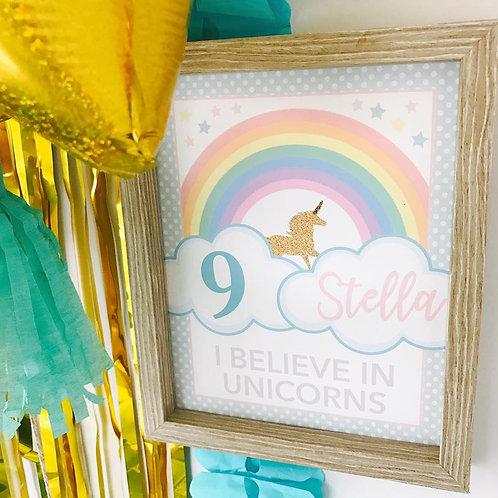 Unicorn Party Sign