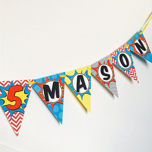 Superhero Party Bunting