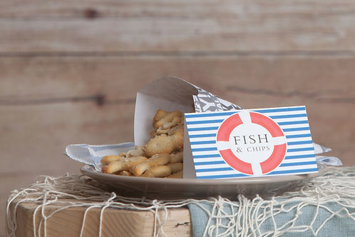Nautical Food Tent Cards
