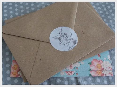 Alice in Wonderland Envelope Seals