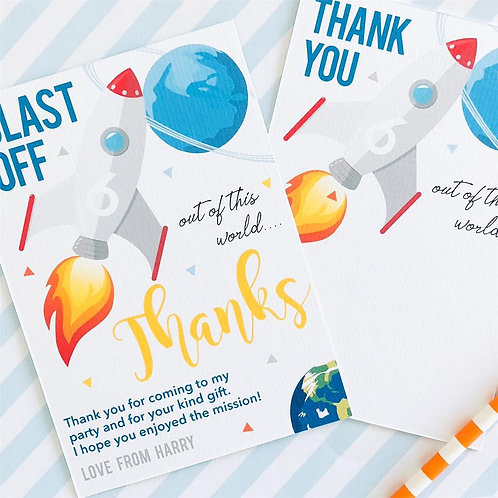 Space Thank You Cards
