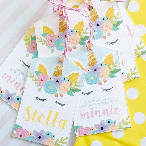 Floral Unicorn Party Bags