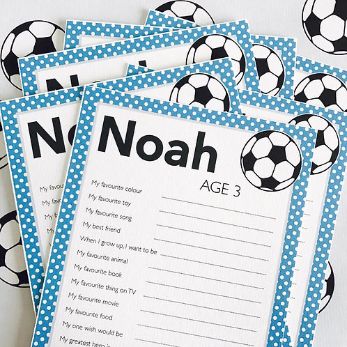 Football Question Cards