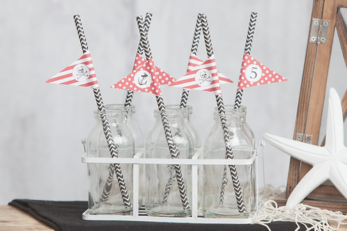 Pirate Party Straws