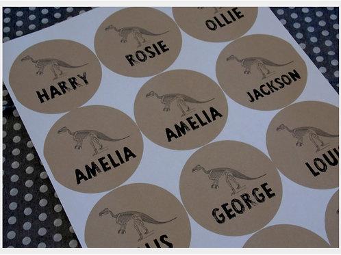 Dinosaur Name Stickers