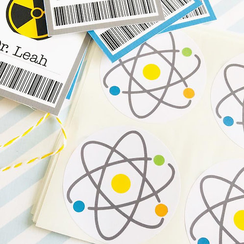 Science Party Stickers