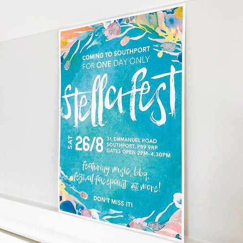 Festival Party Sign